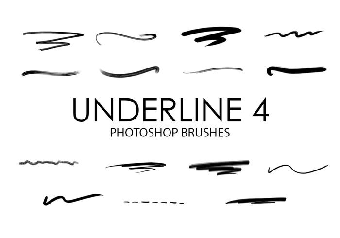Underline Photoshop Brushes 4