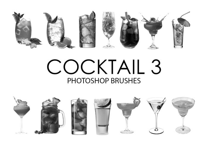 Cepillos de Photoshop Cocktail 3