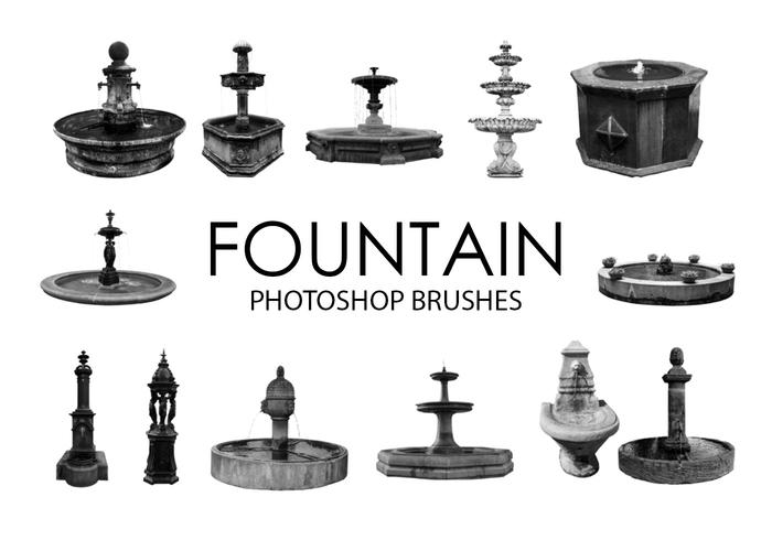 Fountain Photoshop Brushes