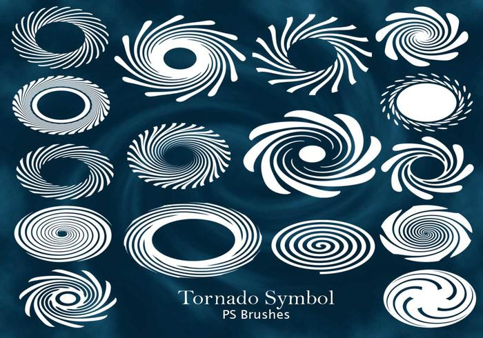 20 Tornado Eye Symbol PS Brushes abr. Vol.10