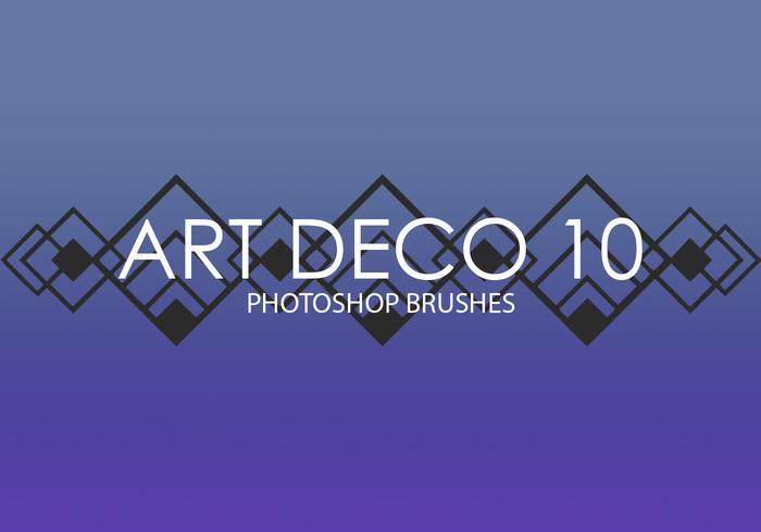 Pinceaux Art Déco Photoshop 10