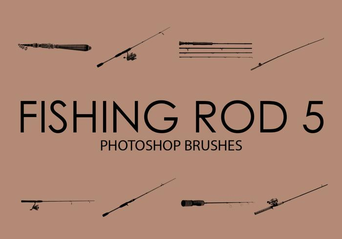 Free Fishing Rod Pinceles para Photoshop 5