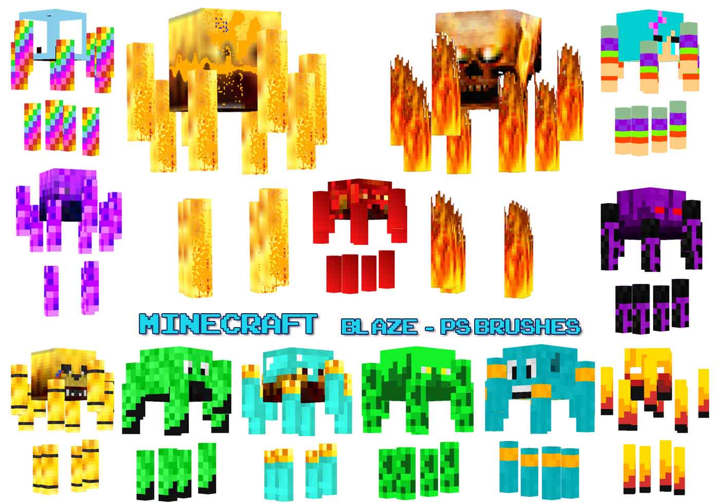 20 minecraft blaze ps brushes abr  vol 19