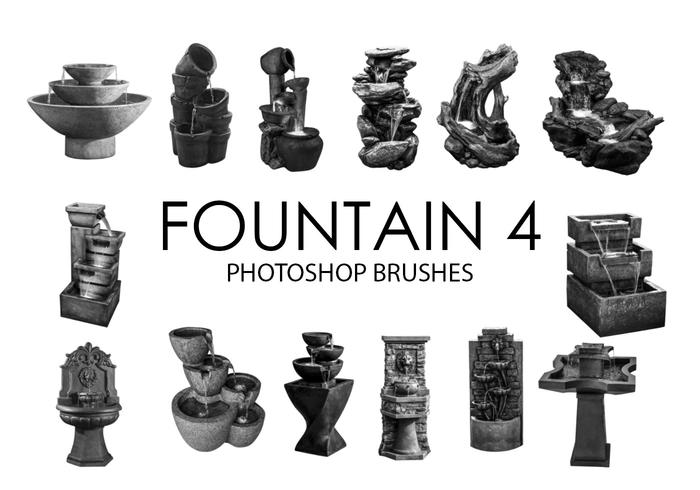 Fountain Photoshop Brushes 4