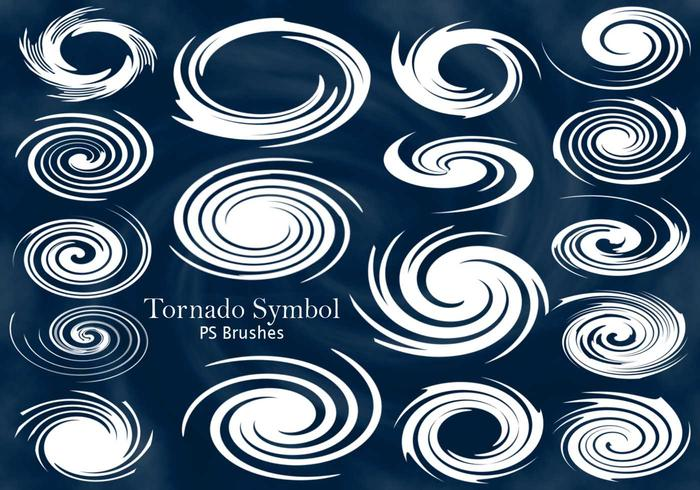 20 Tornado Eye Symbol PS Brushes abr. Vol.12