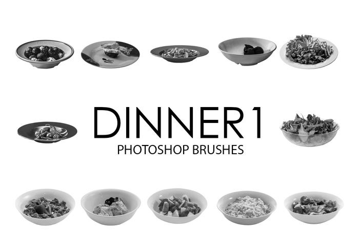 Dinner Photoshop Brushes