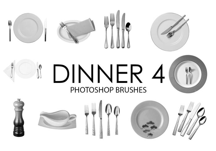 Dîner Photoshop Brushes 4