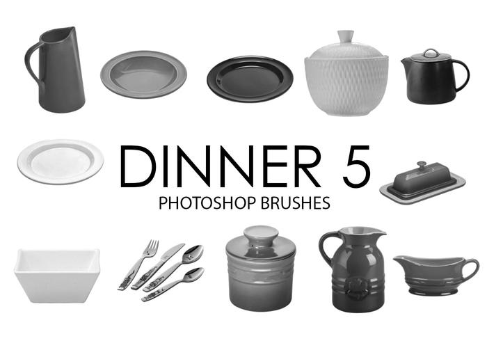 Dîner Photoshop Brushes 5