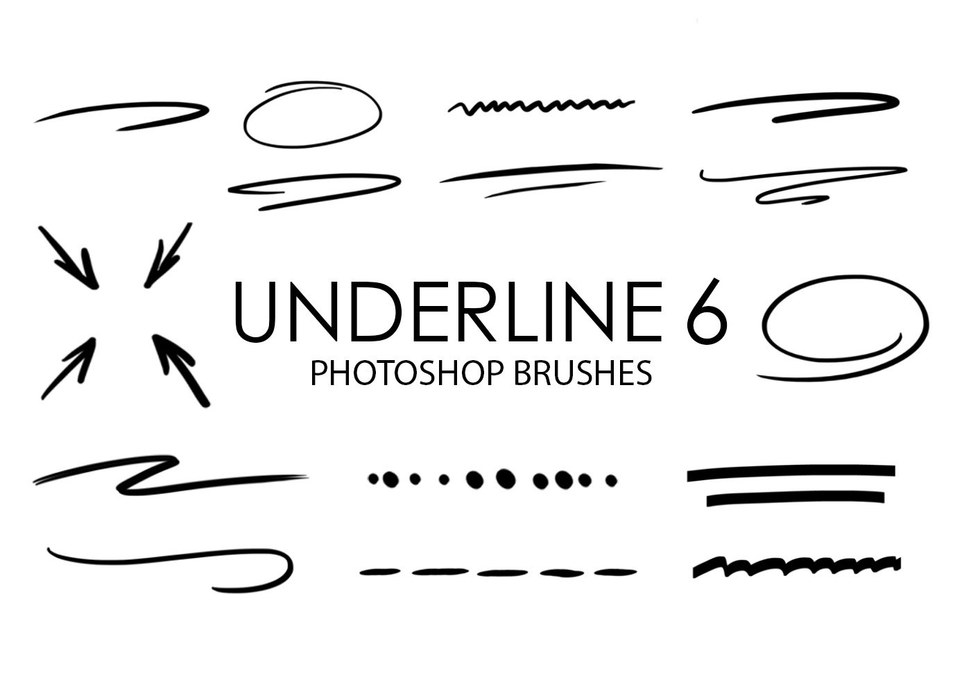 Outline Free Brushes - (1,681 Free Downloads)