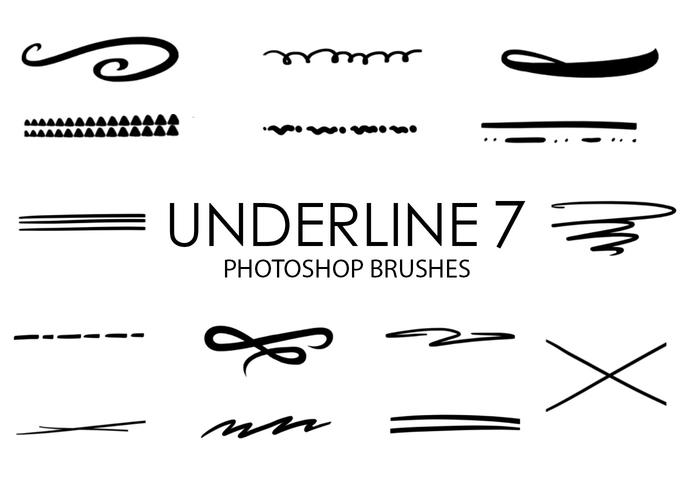 Underline Photoshop Brushes 7