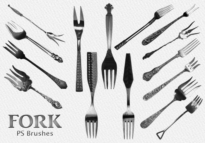 20 Fork Vintage PS Brushes abr.Vol.4