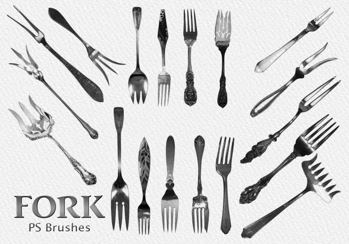 20 Fork Vintage PS Brushes abr.Vol.5