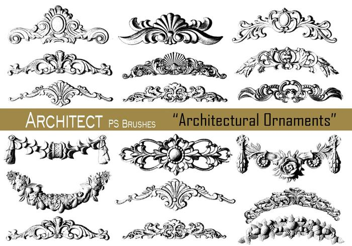20 ornements architecturaux - PS Brushes.abr vol.13