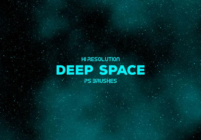 Hallo resolutie Deep Space-borstels