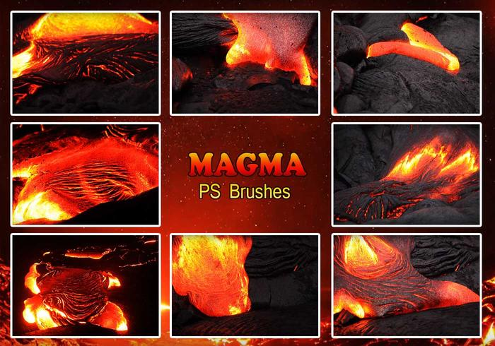 20 Magma-Textur PS Brushes.abr vol.5