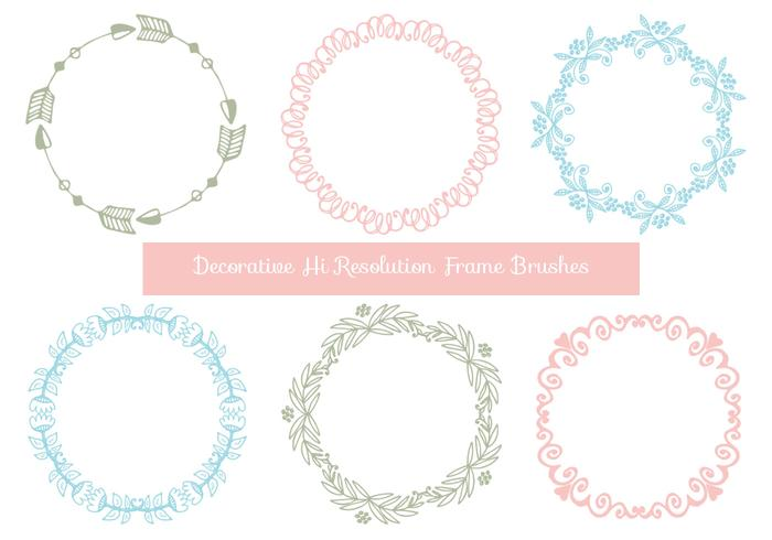 Cute Hand Drawn Style Frame Brushes
