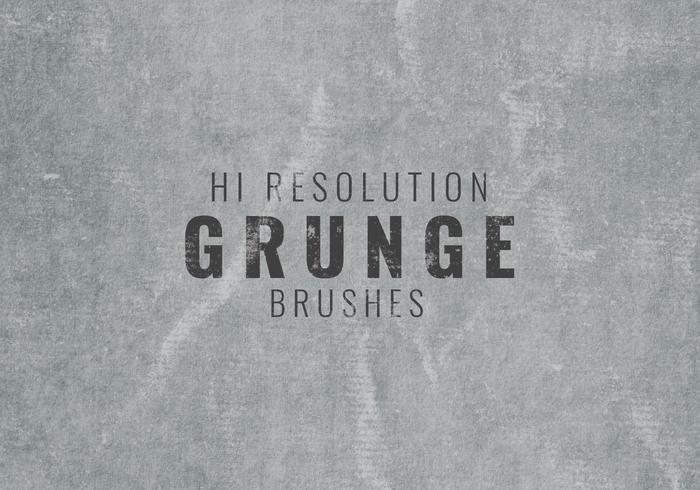 Hallo Entschließung Grunge Background Brushes