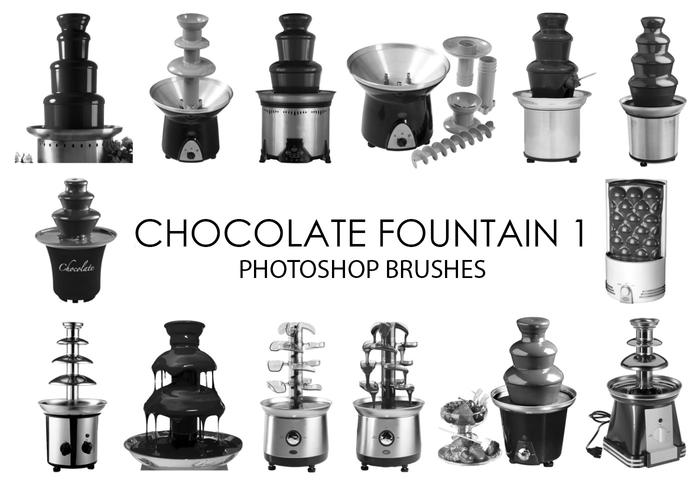 Chocolate Fountain Photoshop Brushes 1