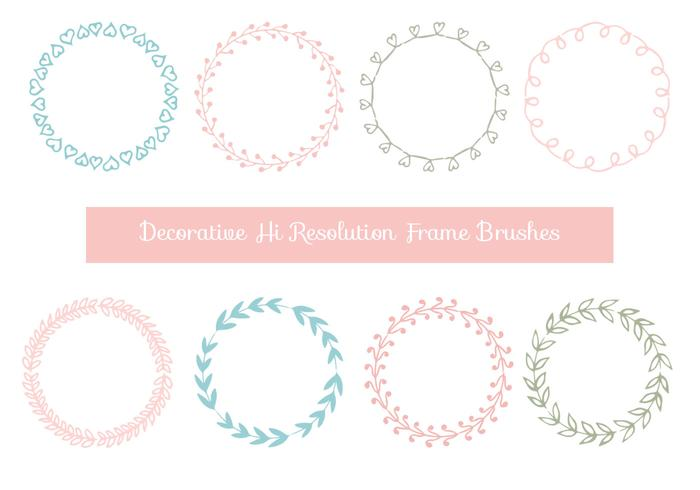 Cute Hand Drawn Decorative Frame Brushes
