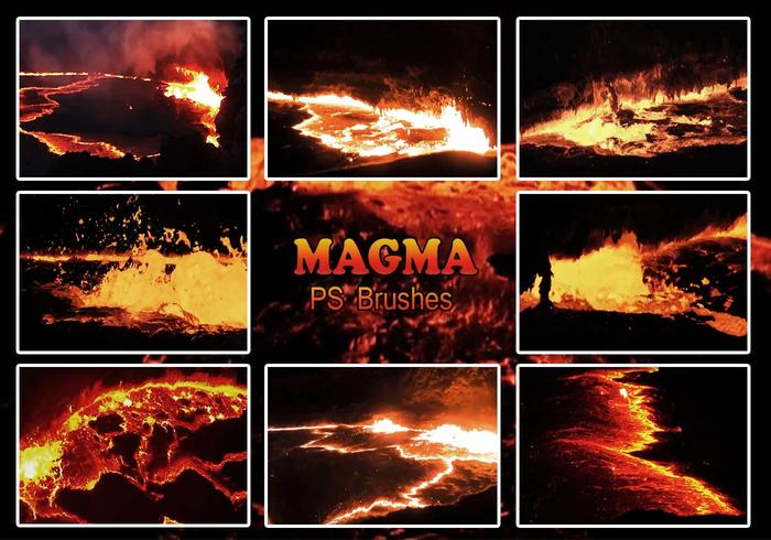 20 Magma-Textur PS Brushes.abr Vol.8