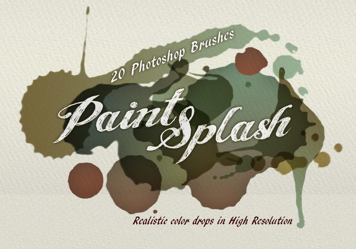 20 paint splash ps brushes.abr vol.5