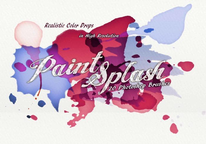 20 Paint Splash PS Pinceaux.abr vol.6