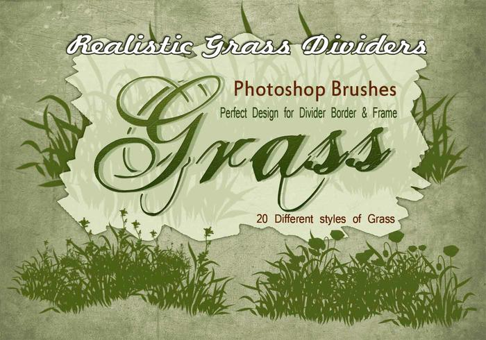 20 herbe silhouette ps brushes.abr vol.10