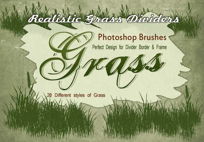 20 herbe silhouette ps brushes.abr vol.11
