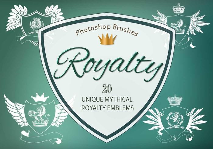 20 Royalty Emblem PS Brushes abr. vol.10