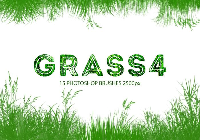 escovas do Photoshop Grass 4