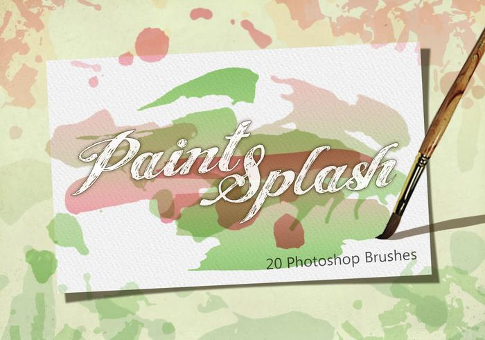 20 Paint Splash PS Pinsel.abr Vol.2