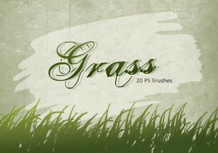 20 Gras Silhouette PS Brushes.abr vol.3