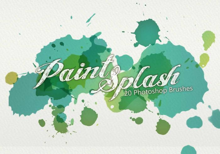 20 paint splash ps brushes.abr vol.3