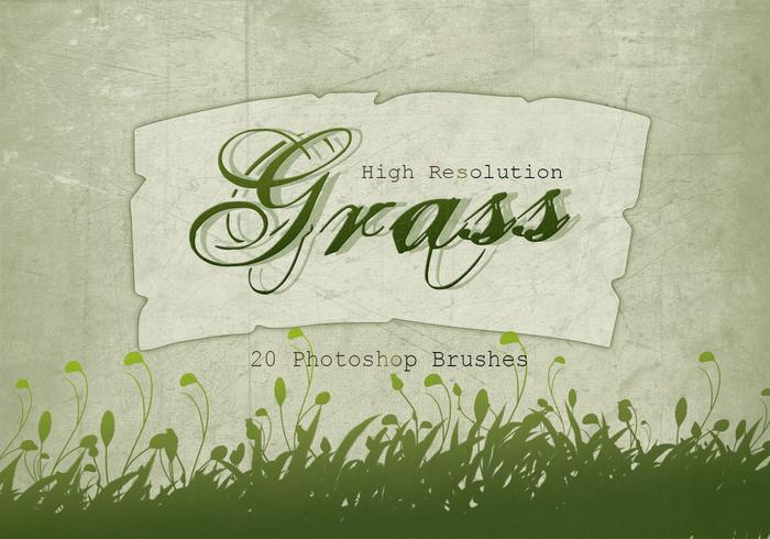 20 Grass Silhouette PS Brushes.abr vol.4