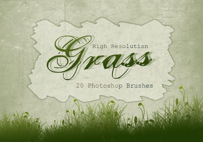 20 Gras Silhouette PS Brushes.abr vol.5