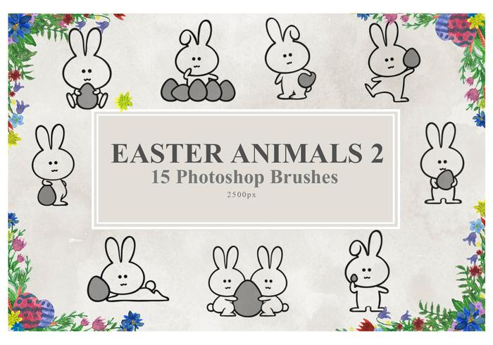 Pascua Animales Photoshop Brushes2