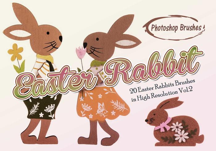 20 Easter Rabbit PS Brushes abr. vol.2