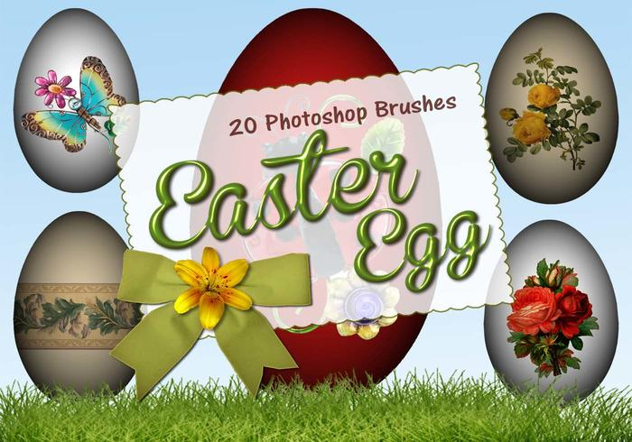 20 Easter Egg PS Brushes abr. vol.7