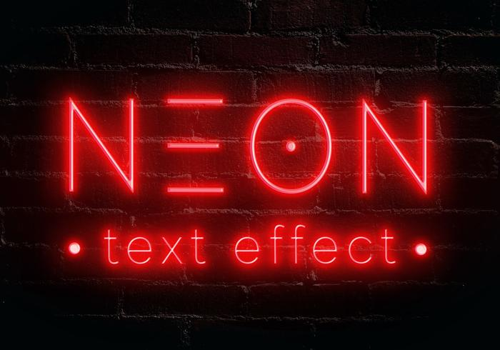 neon text effect5