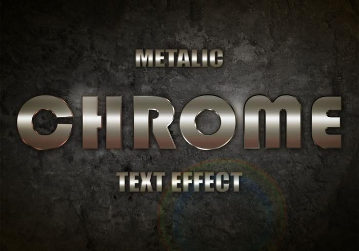 Chrome Metalic Text-Effekt PSD Vol.1