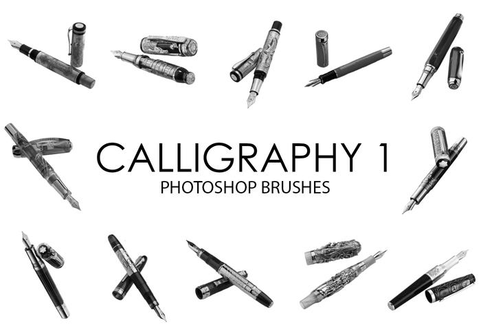 Outils de calligraphie Photoshop Brushes 1