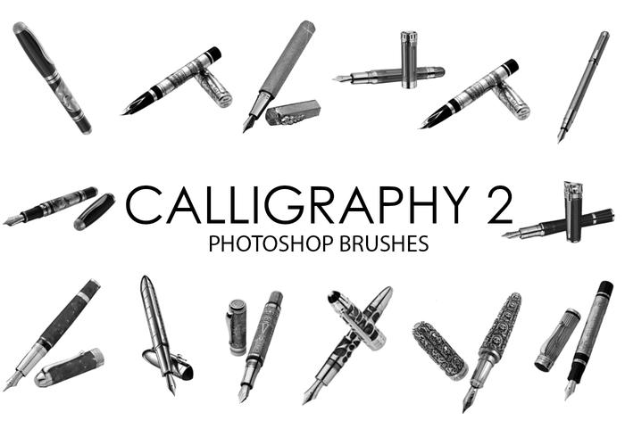 Outils de calligraphie Photoshop Brushes 2