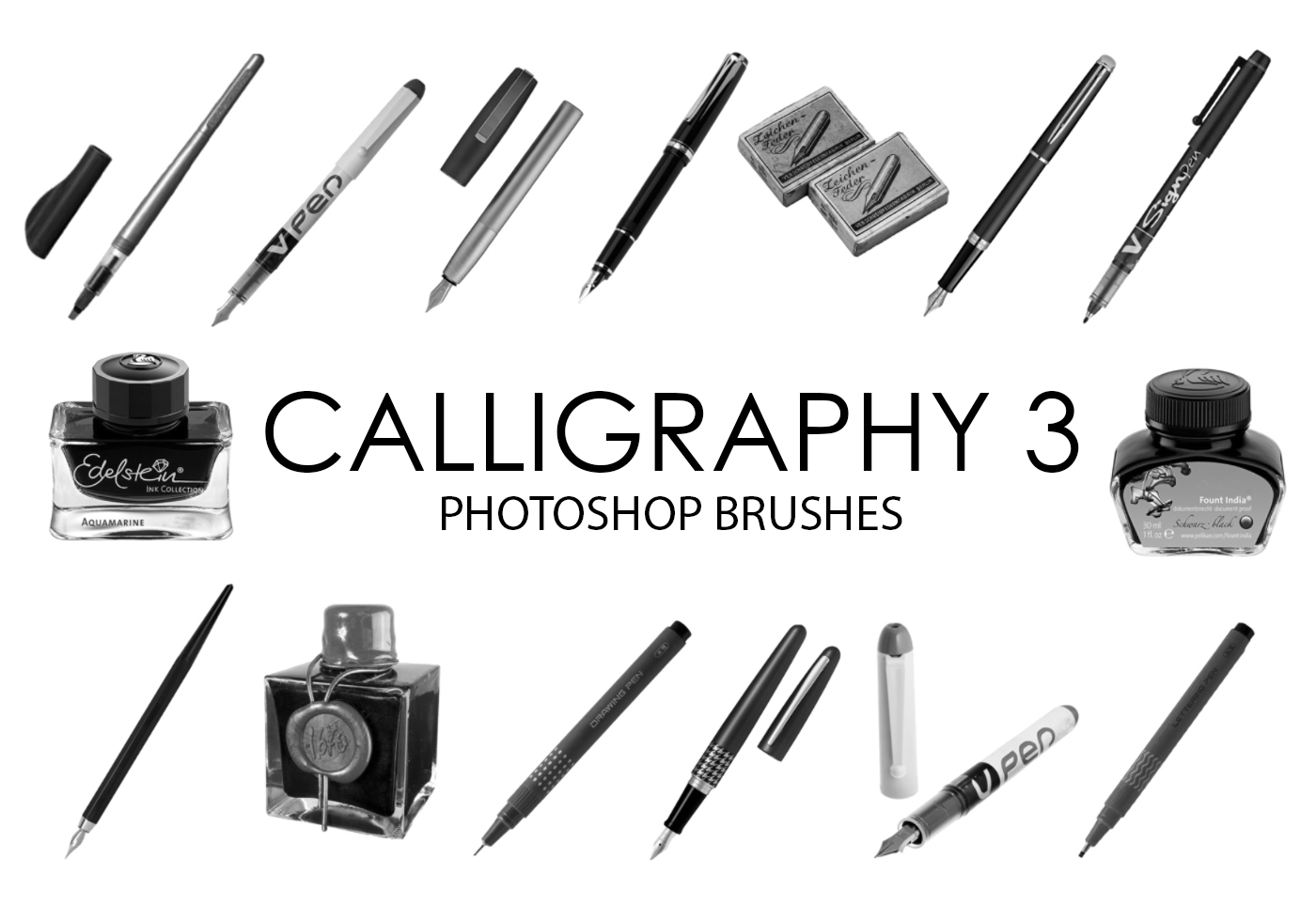 Calligraphy tools photoshop brushes free