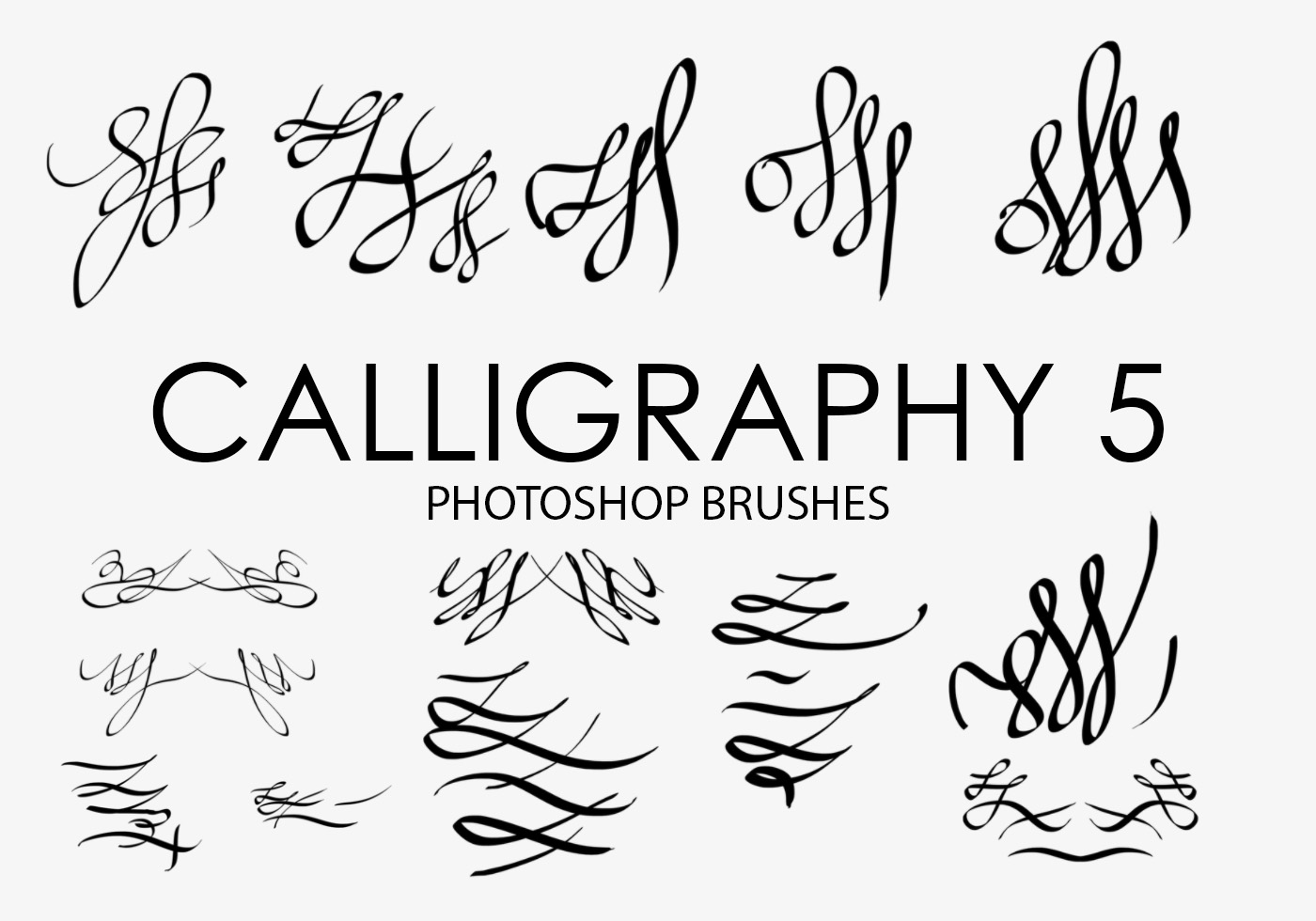 Calligraphy photoshop brushes free