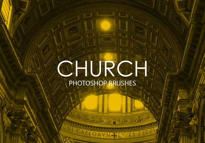 Pinceles iglesia Photoshop