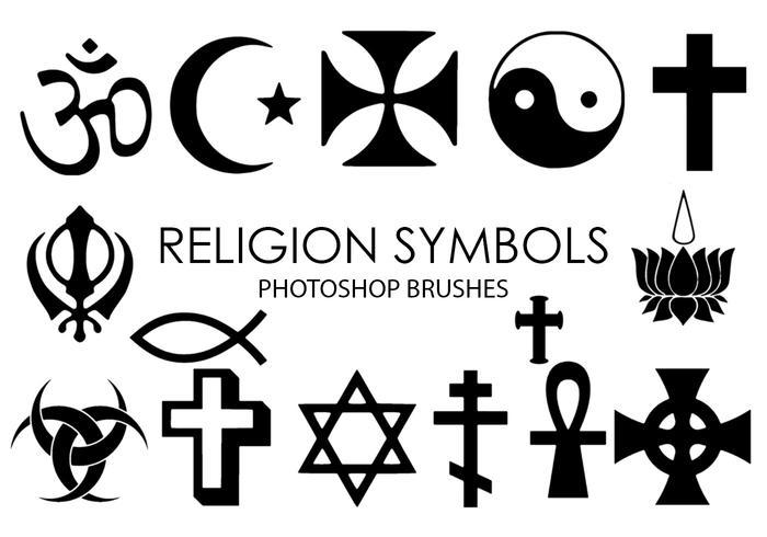 Godsdienstsymbolen Photoshop-penselen