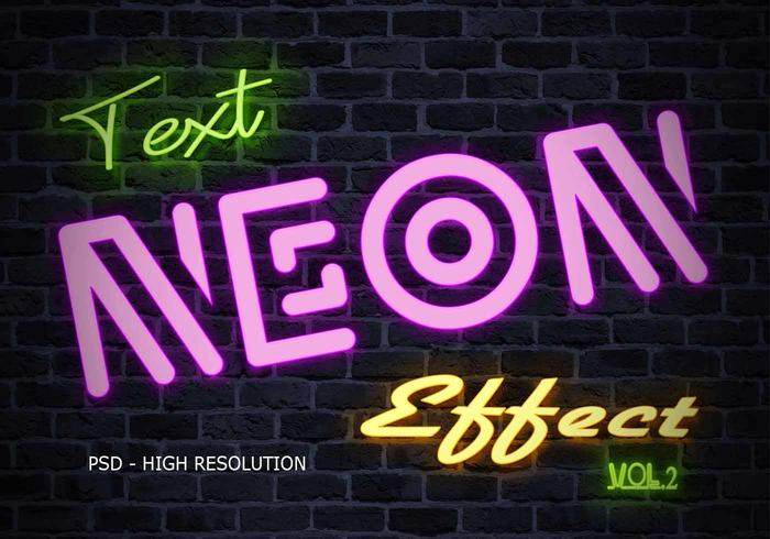 Neon Text Effect PSD Vol.2