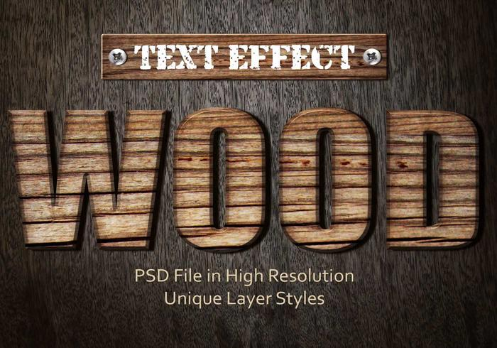 Wood Text Effect PSD Vol.2