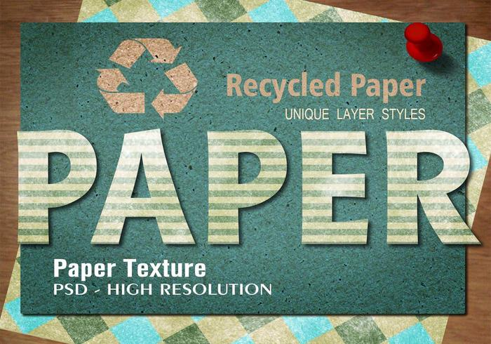 recycled stripe papper text effekt psd vol.5