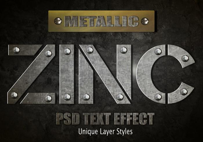 Zinc Text Effect PSD Vol.8